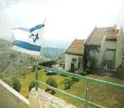 Israeli home on a mountain on the Lolan Heights